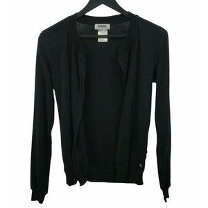 RYKIEL Black Open Front Cardigan Sweater Size M